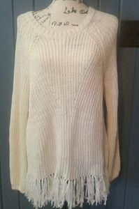 H&M white sweater sz.M